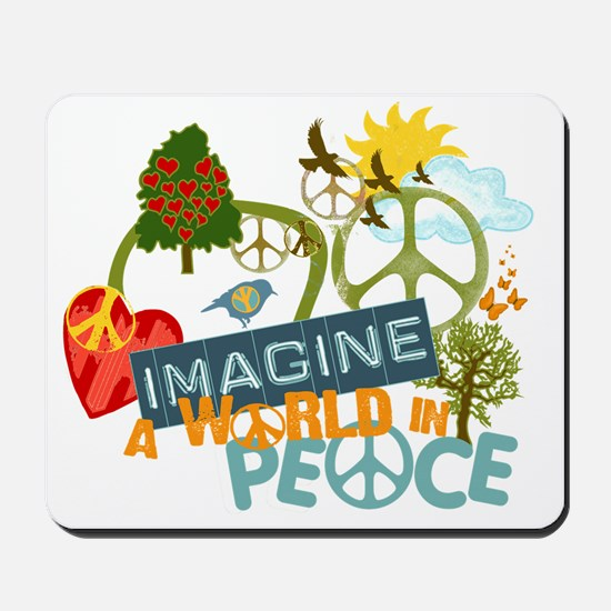 Imagine Peace Abtract Art Mousepad