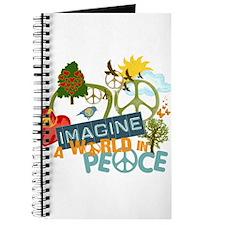 Imagine Peace Abtract Art Journal