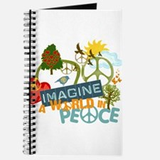 Imagine Peace Abtract Art Journal