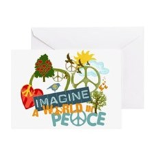 Imagine Peace Abtract Art Greeting Card