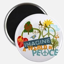 """Imagine Peace Abtract Art 2.25"""" Magnet (10 pack)"""