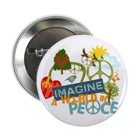 """Imagine Peace Abtract Art 2.25"""" Button (100 pack)"""