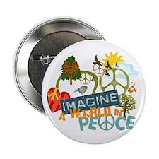 "Imagine Peace Abtract Art 2.25"" Button"