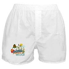 Imagine Peace Abtract Art Boxer Shorts