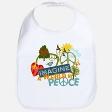 Imagine Peace Abtract Art Bib