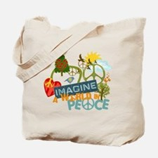 Imagine Peace Abtract Art Tote Bag