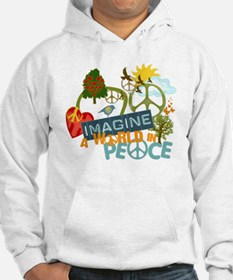 Imagine Peace Abtract Art Jumper Hoody