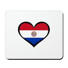 Paraguay Love Mousepad