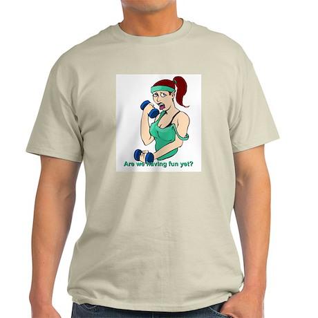 Brunette weight lifter Ash Grey T-Shirt
