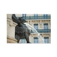 French Griffin Fountain Rectangle Magnet