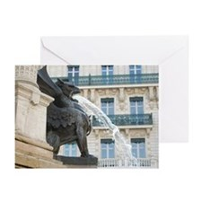 French Griffin Fountain Greeting Cards (Pk of 20)