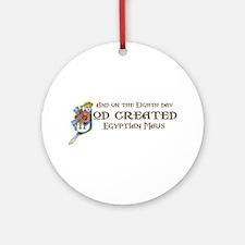 God Created Maus Ornament (Round)