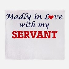 Madly in love with my Servant Throw Blanket