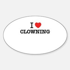 I Love CLOWNING Decal