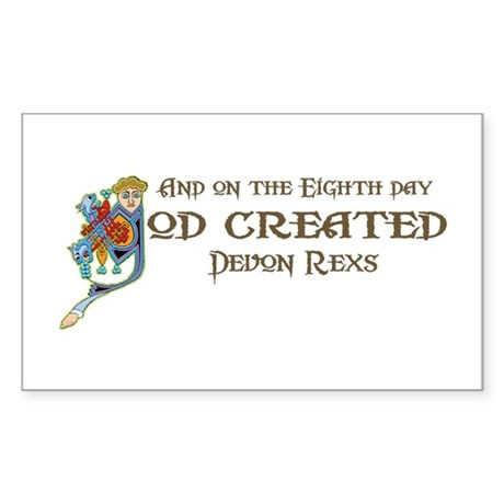 God Created Devons Rectangle Sticker