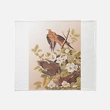 Audubon Carolina Turtle Dove Design Throw Blanket