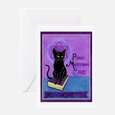 The Proud Mysterious Cat Greeting Card