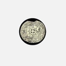 Ancient Cherokee Gorget Mini Button