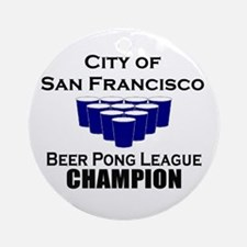 City of San Francisco Beer Po Ornament (Round)