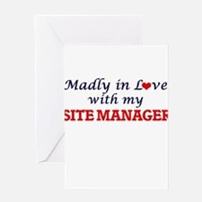 Madly in love with my Site Manager Greeting Cards