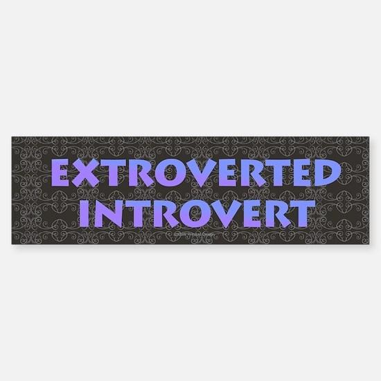 Extroverted Introvert Bumper Bumper Bumper Sticker
