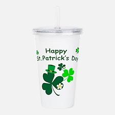 Happy St. Patrick's Da Acrylic Double-wall Tumbler