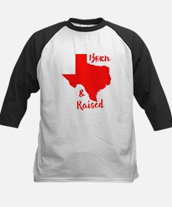 Texas - Born & Raised Kids Baseball Jersey