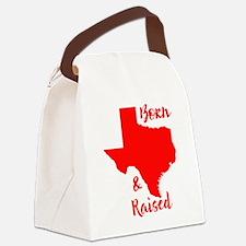 Texas - Born & Raised Canvas Lunch Bag