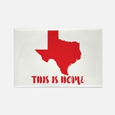 Texas - This Is Home Rectangle Magnet