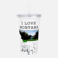 I Love Montana Acrylic Double-wall Tumbler