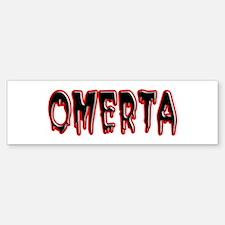 Omerta Bumper Car Car Sticker