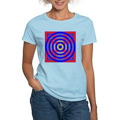 275f. color geometrik Women's Pink T-Shirt