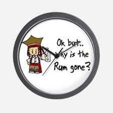 Why is the Rum gone? Wall Clock