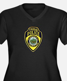 Hoopa Valley Tribal Police Women's Plus Size V-Nec