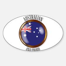 Australia Proud Flag Button Decal