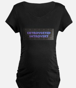 Extroverted Introvert Maternity T-Shirt