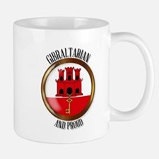 Gibraltar Proud Flag Button Mugs