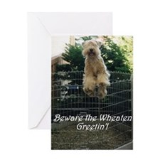Beware the Wheaten Greetin' Greeting Card