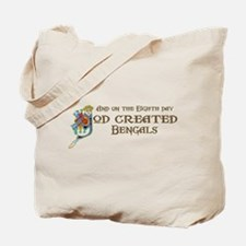 God Created Bengals Tote Bag