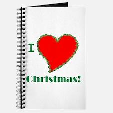 I Love Christmas Heart Journal