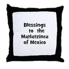 Blessings  to  the  Matlatzin Throw Pillow