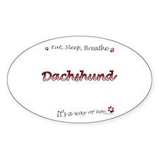 Dachshund Breathe Oval Decal