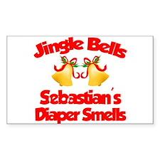 Sebastian - Jingle Bells Rectangle Decal