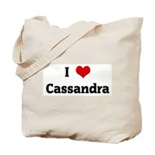 I Love Cassandra Tote Bag