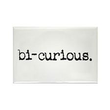 bi-curious. Rectangle Magnet
