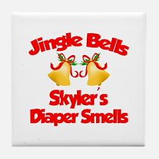 Skyler - Jingle Bells Tile Coaster