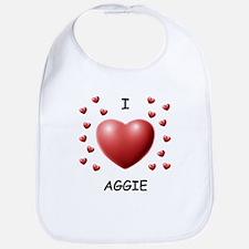 I Love Aggie - Bib