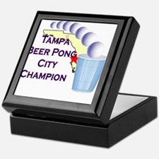Tampa Beer Pong City Champion Keepsake Box