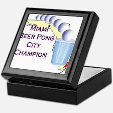 Miami Beer Pong City Champion Keepsake Box