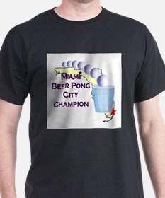 Miami Beer Pong City Champion T-Shirt
